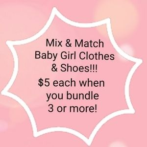 Mix & Match Baby Girl Clothes.